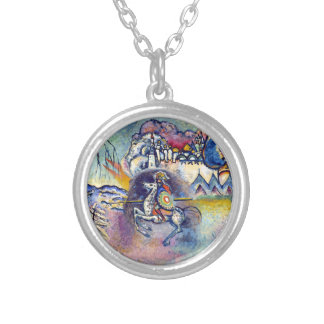 Wassily Kandinsky - Saint George & The Horsemen Silver Plated Necklace