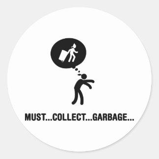 Waste Collector Round Sticker