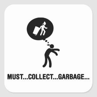 Waste Collector Square Stickers