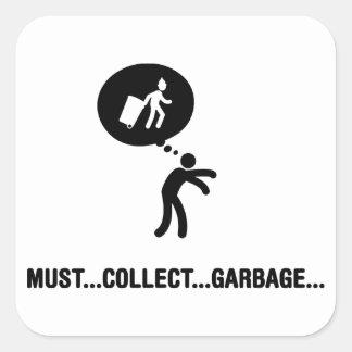 Waste Collector Square Sticker