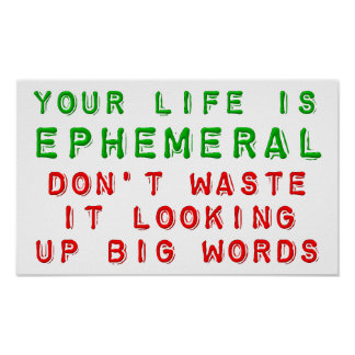 Waste Life Looking For Big Words Funny Poster