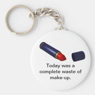 Waste of Make-up. Keychain