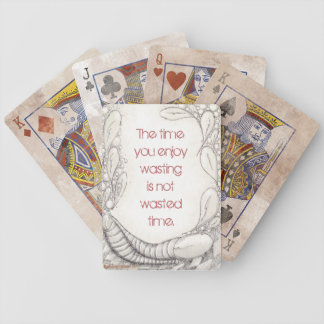 """Wasted Time?"" Distressed Edition Bicycle Playing Cards"