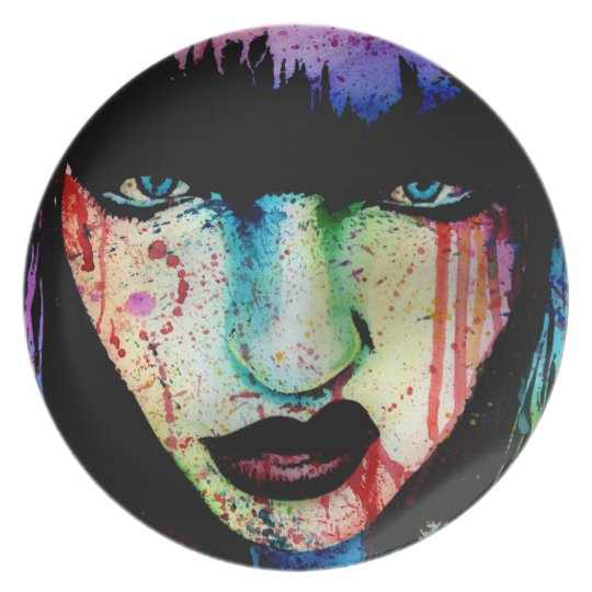 Wasted Youth - Pop Art Horror Portrait Plate