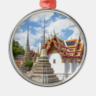 Wat Pho, Bangkok Silver-Colored Round Ornament