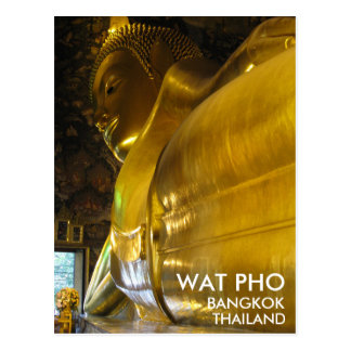 Wat Pho Reclining Golden Buddha Bangkok Thailand Postcard