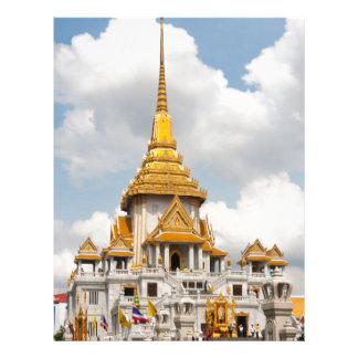 Wat Traimit, Bangkok, Thailand Letterhead