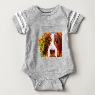"""WATCH""-Bernese Mountain Dog Baby Bodysuit"