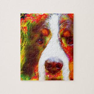 """WATCH""-Bernese Mountain Dog Jigsaw Puzzle"