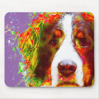 """WATCH""-Bernese Mountain Dog Mouse Pad"