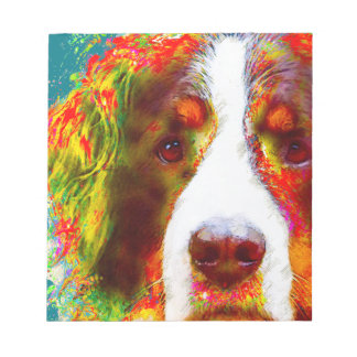 """WATCH""-Bernese Mountain Dog Notepad"