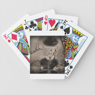 watch bicycle playing cards