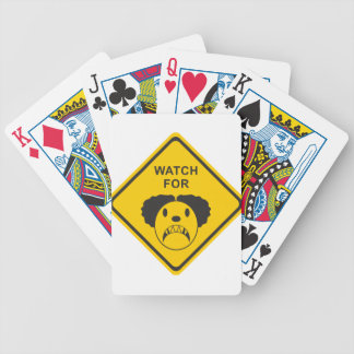 Watch For Clown Bicycle Playing Cards