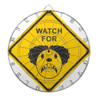 Watch For Clown Dartboard