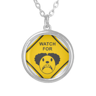 Watch For Clown Silver Plated Necklace