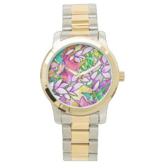 Watch Grunge Art Floral Abstract