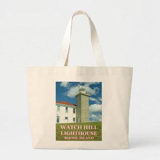 Watch Hill Lighthouse, Rhode Island Tote Bag