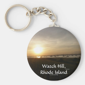 Watch Hill, Rhode Island Basic Round Button Keychain