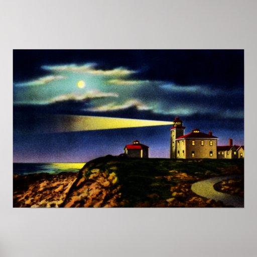 Watch Hill Rhode Island Light House Point Posters