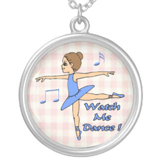 Watch Me Dance Silver Plated Necklace