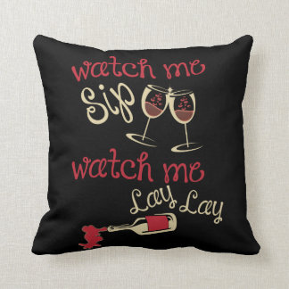 Watch me lay throw pillow