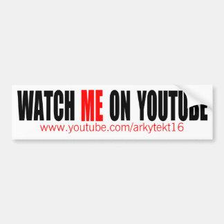 Watch Me on YouTube | Modern (Dark) Bumper Sticker