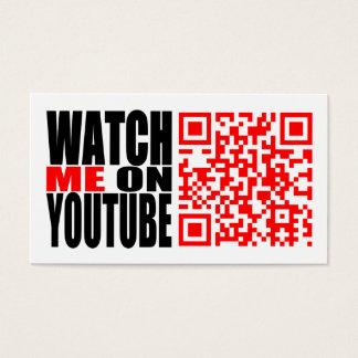 Watch Me on YouTube | Modern (Dark) Business Card