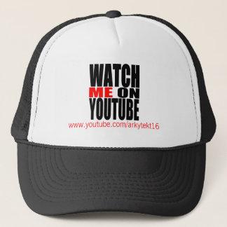 Watch Me on YouTube | Modern (Dark) Trucker Hat