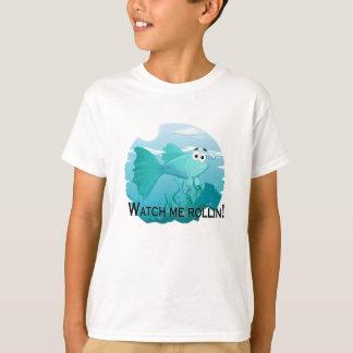 Watch me rolling guppy fish illustration T-Shirt