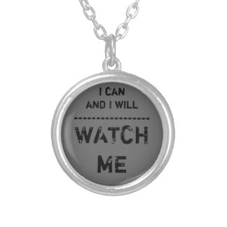 Watch Me Silver Plated Necklace