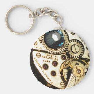 watch movement basic round button keychain