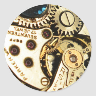 watch movement classic round sticker