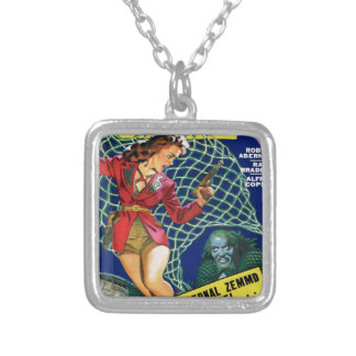 Watch out!  A net! Silver Plated Necklace