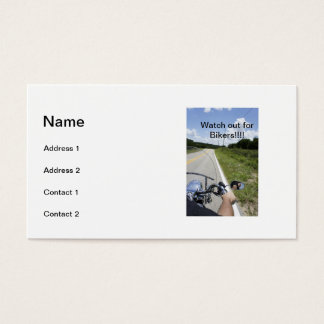 Watch out for Bikers Business Card
