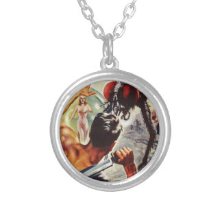 Watch Out!  I't a Big Fly! Silver Plated Necklace