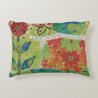 Watch Out World Garden Decorative Pillow