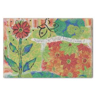 Watch Out World Garden Tissue Paper
