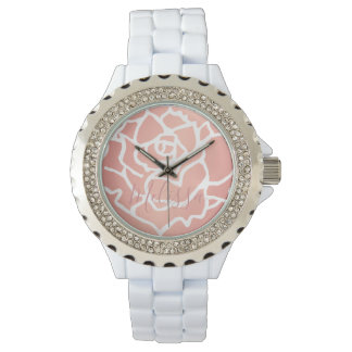 Watch - Rose Pink Personalized Name