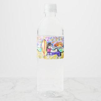 watch sunset water bottle label