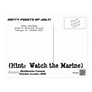 WATCH THE MARINE (1951) POSTCARD