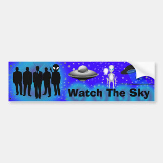 Watch The Sky bumper sticker