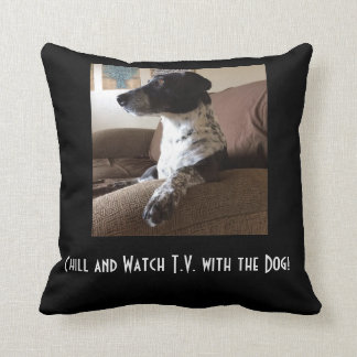 watch tv with the dog pillow