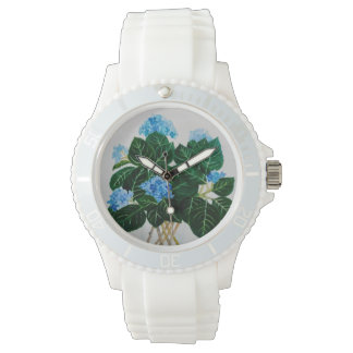 Watch, white, hydrangea bouquet watch