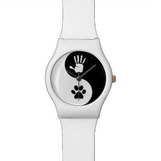 Watch (white/round)
