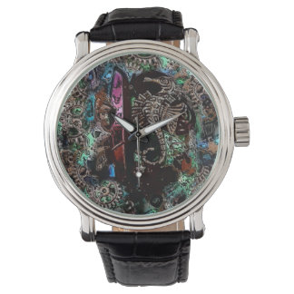 Watch with a photo of a Seahorse orgonite Jewelry