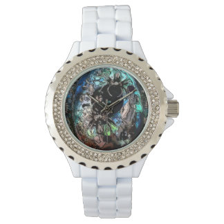 Watch with a photo of steampunk orgonite Jewelry