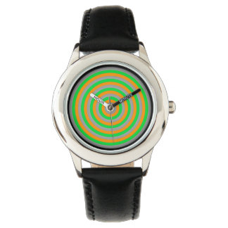 Watch with Colourful Circular Design