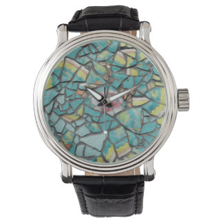 Watch with mosaic design