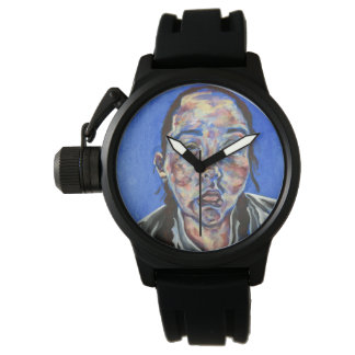 Watch with painting of face as the face!