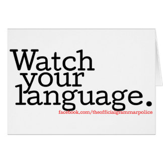 Watch Your Language 2 Card